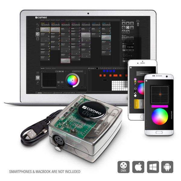 Cameo DVC - Interface USB vers DMX 512canaux et logiciel de commande