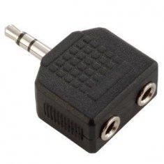 Adaptateur en Y 2 x Mini Jack stéréo vers Mini Jack stéréo mâle