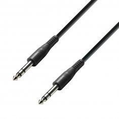 Câble de Patch Jack 6,35 mm stéréo vers Jack 6,35 mm stéréo 0,3 m