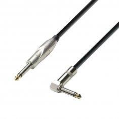 Câble Instrument Jack 6,35 mm mono vers Jack 6,35 mm mono coudé 3 m
