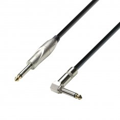 Câble Instrument Jack 6,35 mm mono vers Jack 6,35 mm mono coudé 9 m