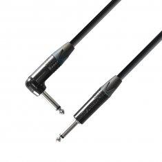 Câble Instrument Neutrik Jack 6,35 mm mono vers Jack coudé 6,35 mm mono 3 m