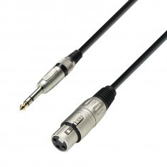 Câble Microphone XLR femelle vers Jack 6,35 mm stéréo mâle 10 m