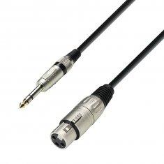 Câble Microphone XLR femelle vers Jack 6,35 mm stereo mâle 6 m