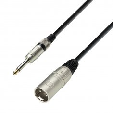 Câble Microphone XLR mâle vers Jack 6,35 mm mono 6 m