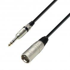 Câble Microphone XLR mâle vers Jack 6,35 mm stéréo mâle 6 m