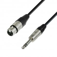 Câble XLR femelle  Jack 6,35 mm stéréo 0,3 m