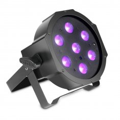 FLAT PAR CAN 7X3W UV IR Caméo
