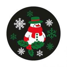 Gobo motif bonhomme de neige blanc/rouge/vert 54mm