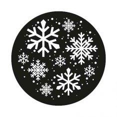 Gobo motif flocons 1 couleur blanc 54mm