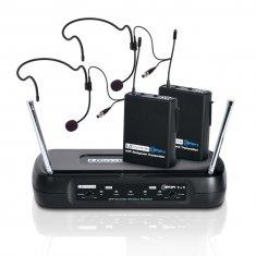 LD Systems ECO 2X2 BPH 2 - Système de Micro sans Fil avec 2 x Émetteur Ceinture et 2 x Micro Serre-tête