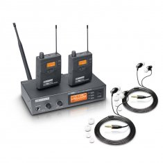 LD Systems MEI 1000 G2 BUNDLE - Système d'In-Ear Monitoring HF avec 2 récepteurs Beltpack et 2 paires d'écouteurs intra
