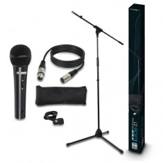 LD Systems MIC SET 1 - Set Microphone avec Micro, Pied Micro, Câble et Pince Micro