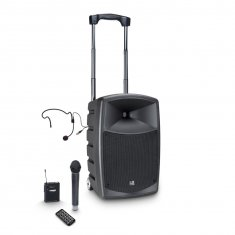 LD Systems ROADBUDDY 10 HBH 2 B6 - Battery-Powered Bluetooth Speaker with Mixer and Wireless Microphone