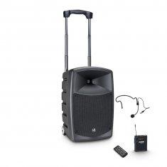 LD Systems ROADBUDDY 10 HS - Enceinte active Bluetooth sur accus avec mixeur et micro serre-tête
