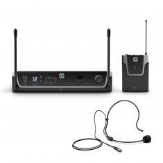 LD Systems U304.7  BPH - Système de Micro sans Fil avec Émetteur Ceinture et Micro Serre-tête