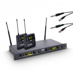 LD Systems WIN 42 BPG 2 B 5 - Système de Micro sans Fil avec 2 x Émetteur Ceinture et 2 x Câbles Guitare bande 5 584 - 607 MHz