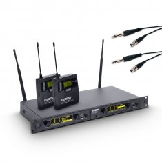 LD Systems WIN 42 BPG 2 - Système de Micro sans Fil avec 2 x Émetteur Ceinture et 2 x Câbles Guitare