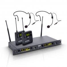 LD Systems WIN 42 BPH 2 B 5 - Système de Micro sans Fil avec 2 x Émetteur Ceinture et 2 x Micro Serre-tête