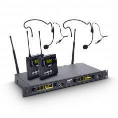 LD Systems WIN 42 BPH 2 - Système de Micro sans Fil avec 2 x Émetteur Ceinture et 2 x Micro Serre-tête