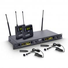 LD Systems WIN 42 BPW 2 - Système de Micro sans Fil avec 2x Émetteur Ceinture et 2x Micro Instruments à Vent