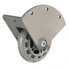 Roulette d'Angle Encastrable aluminium Bandage Souple 75 mm