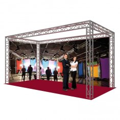 Stand Exposition structure alu triangulaire.