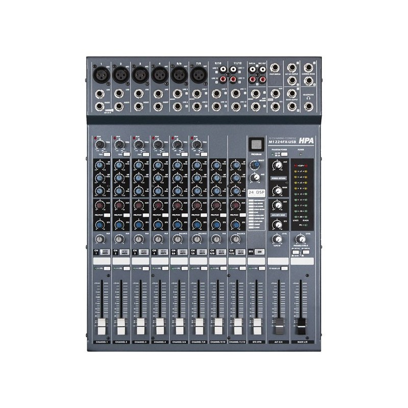 Table de mixage hpa m1224fx usb en vente sur technimusic - Table de mixage professionnelle studio ...